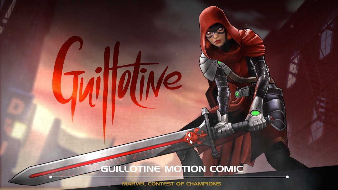 Badass Game Girl Wallpaper Guillotine Motion Comic Marvel Contest Of Champions