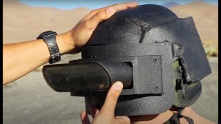 World's first 50cal rated Ironman helmet ⛑ 🤖 a real PUBG level 3