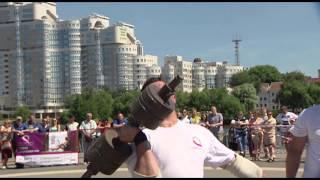 Minsk Strong Battle 2015 - Упражнение 4 - Подъём гигантской гантели весом 86 кг, лимит времени 60сек