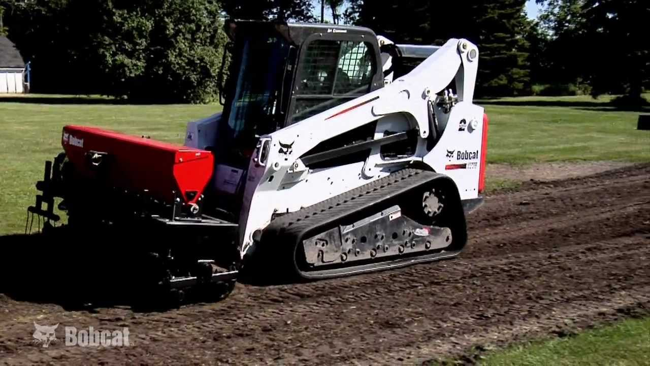 Bobcat Seeder Attachment Youtube