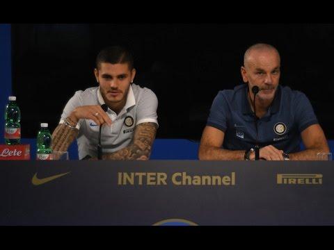 Live! Conferenza stampa Stefano Pioli & Mauro Icardi prima di Inter-Milan 13.04.2017 13:00CEST