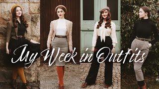 My Week in Outfits #2 | Vintage Fashion Inspo