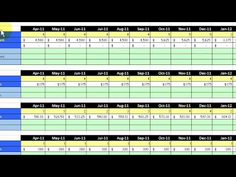 budget template part 2 monthly numbers tutorial youtube. Black Bedroom Furniture Sets. Home Design Ideas