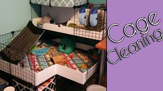 Cleaning a C&C Guinea Pig Cage with Fleece