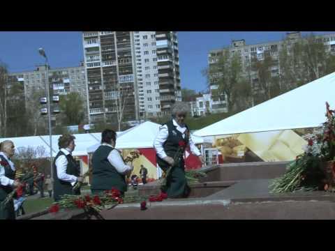 Возложение цветов к к памятнику Героям фронта и тыла и заложение Капсулы времени