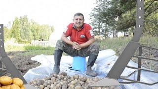Копаємо картоплю мотоблоком. Налаштування картоплекопач секрети!