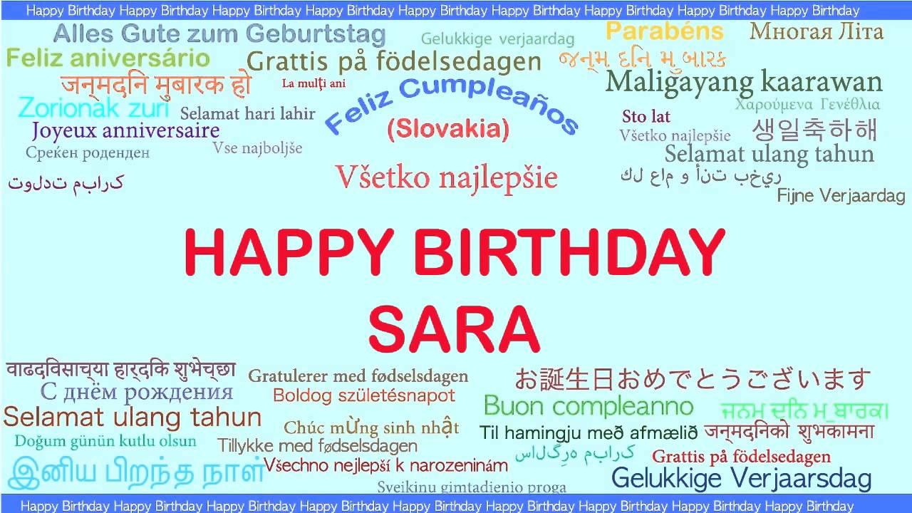 Sara Languages Idiomas Happy Birthday