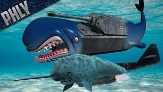 War Thunder Tanks! HUMPAK WHALE & NARWHAL! Get it?