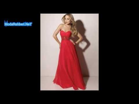 1d1c942af6046 Straplez abiye elbise modelleri En çok tercih edilenler - YouTube