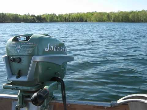 1954 johnson qd 15 10hp outboard motor youtube for 10 hp boat motors