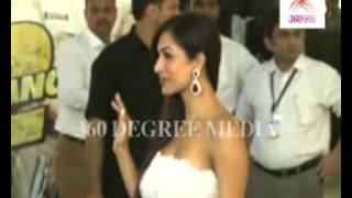 Hot Sexy Malaika Arora Khan poses for media in a white \u0026 yellow off-shoulder dress