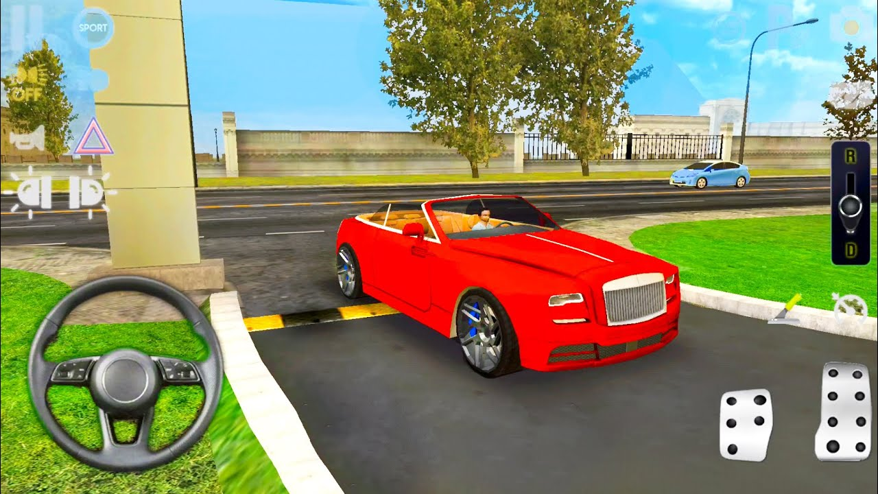 Driving On Highway & Multi-Level Parking - Rolls Royce Car Without Roof - Android Gameplay