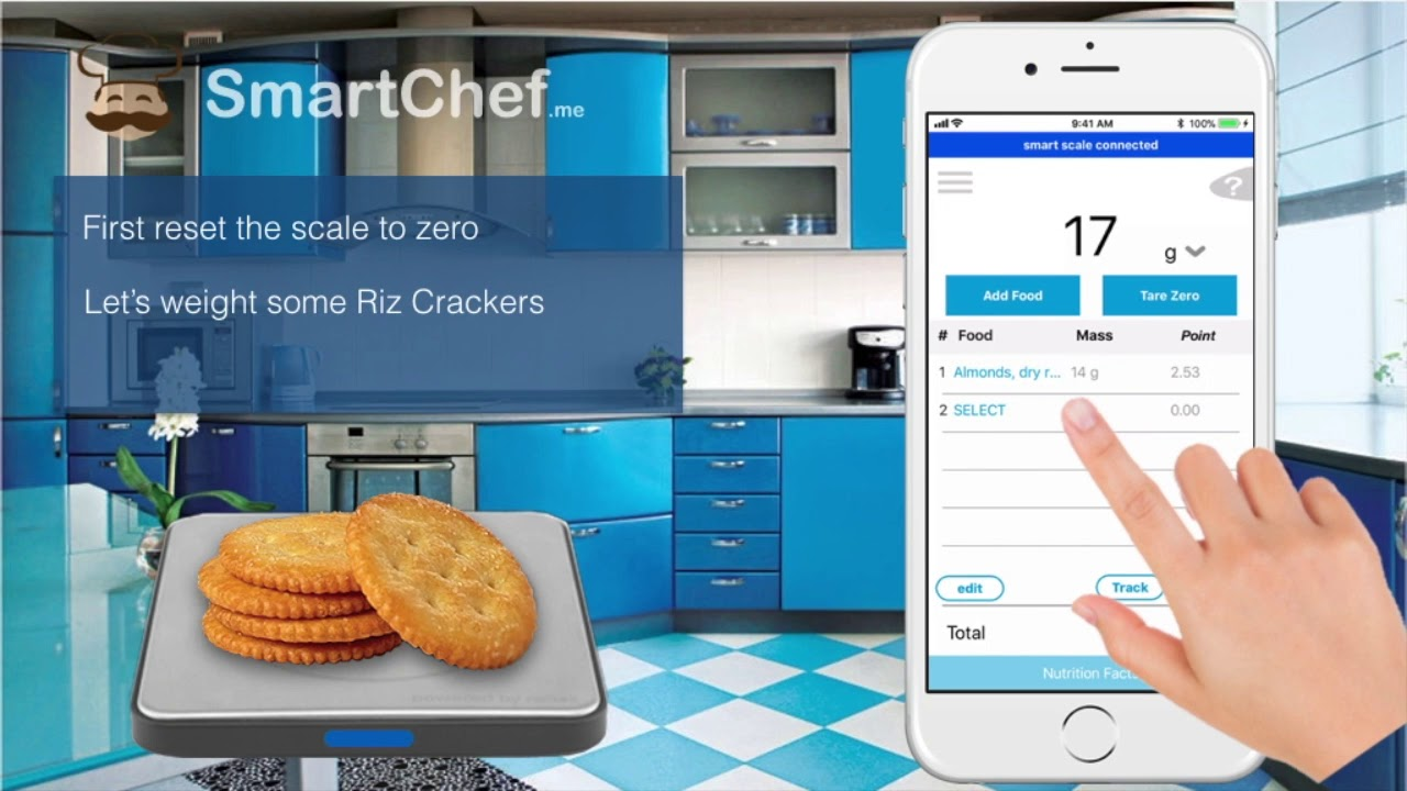 Smart Food Scale for Weight Watchers SmartPoints Tracking - YouTube