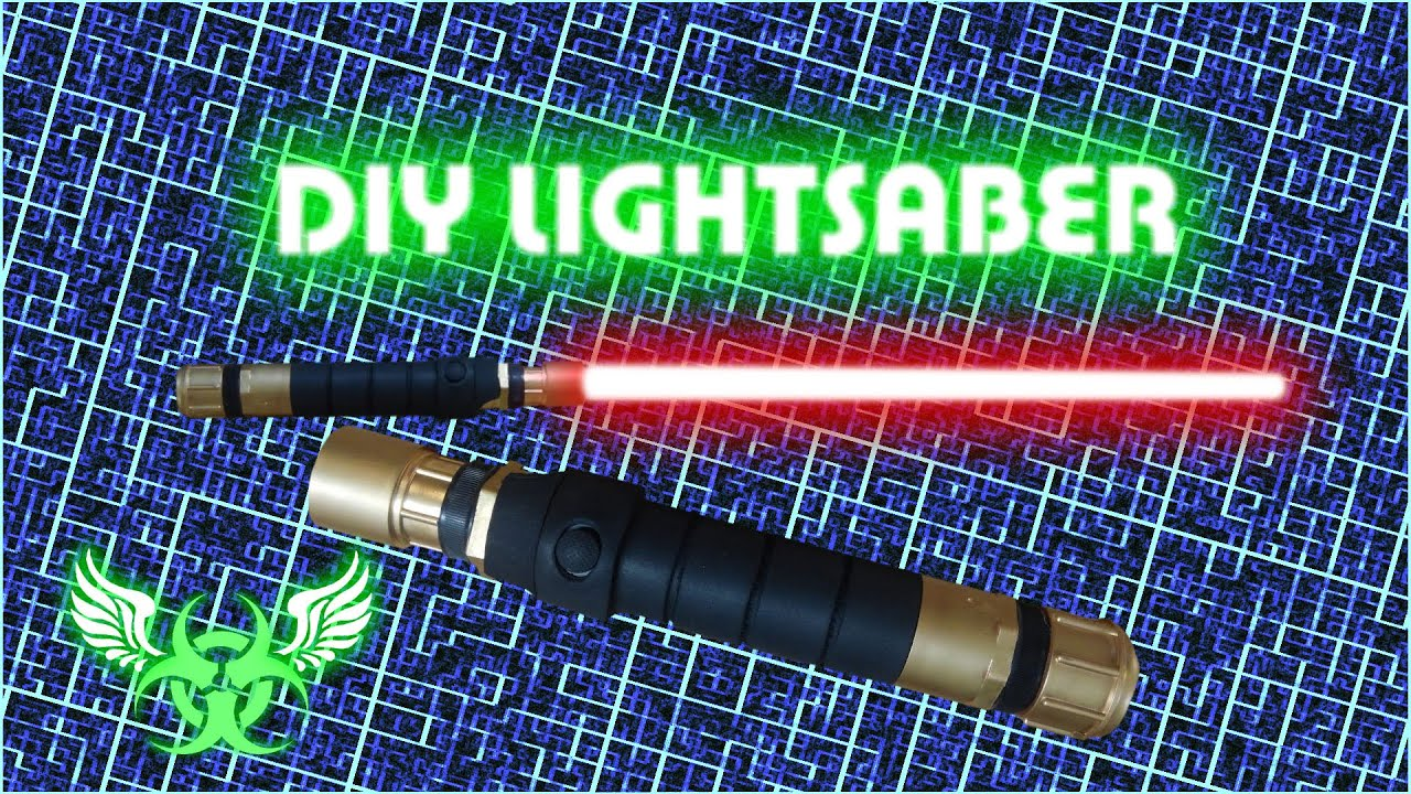 DIY LIGHTSABER WITH BLADE E 15 - YouTube