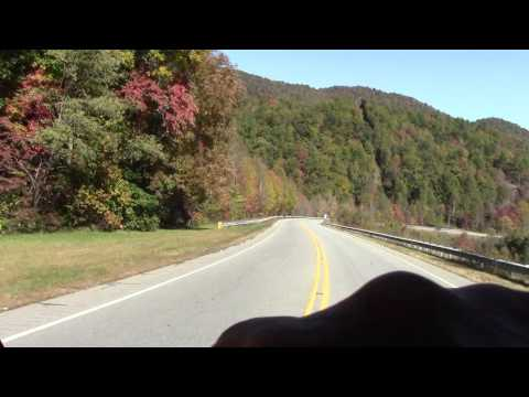 Murphy NC to Franklin NC goin down the mountain lookin at leaves
