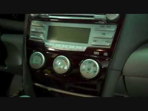 Toyota Camry Car Stereo And CD Player Removal 2007-2011