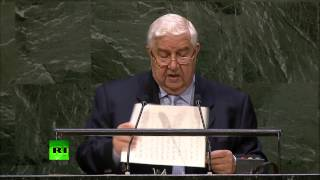 ISIS trained like 'monster' to be unleashed against Syria, Iraq, Lebanon – Syrian FM (UNGA 2014)