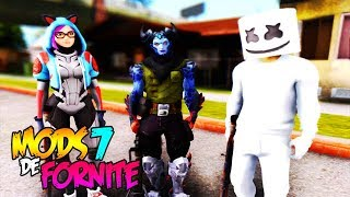 THE BEST MODS OF FORTNITE PART 7 FOR GTA SAN ANDREAS 2019!!
