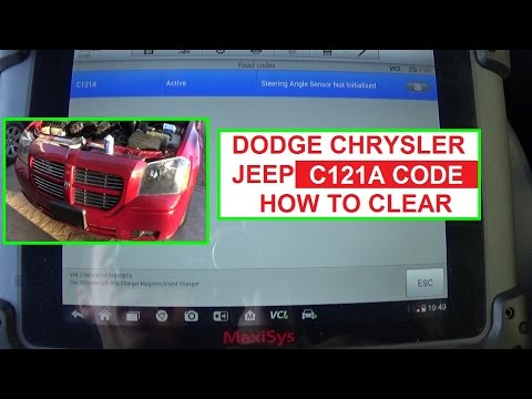 Code C121A Steering Angle Sensor not Initialized Dodge Chrysler Jeep How to Calibrate