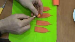 Dekoracje z marchewki - Lilia z plastró...