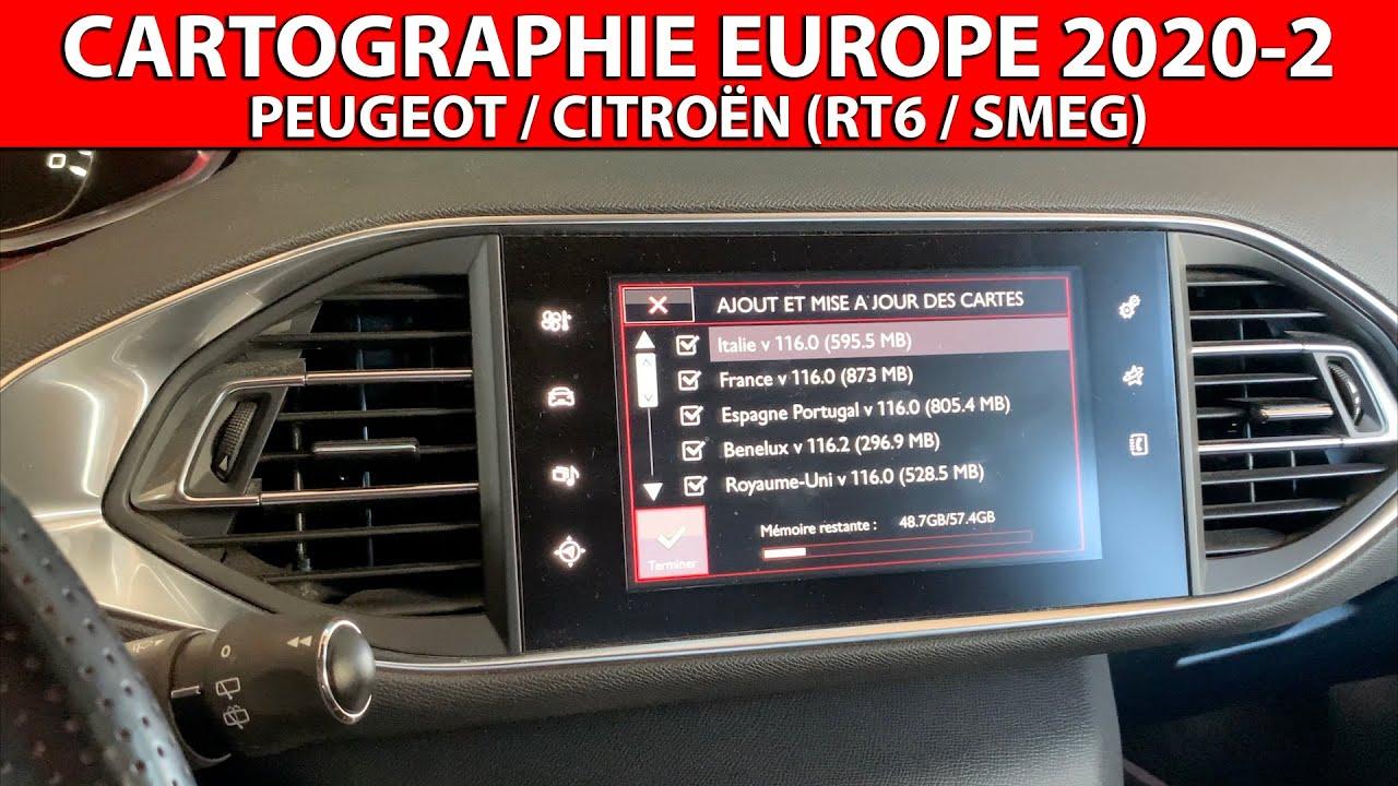Mise à jour/upgrade cartographie Europe 2020-2 e-MyWay/WipNav+ (RT6, SMEG, SMEG+IV2)