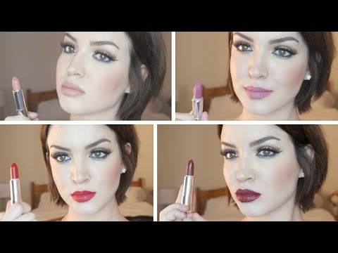 Lipstick TRY ON ♡ NEW Maybelline Matte Color Sensational Lipsticks