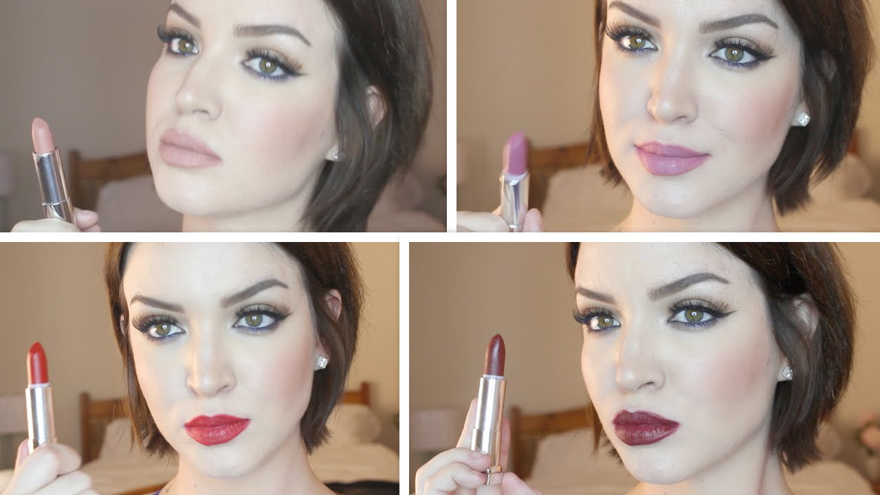 Lipstick Try On New Maybelline Matte Color Sensational Lipsticks