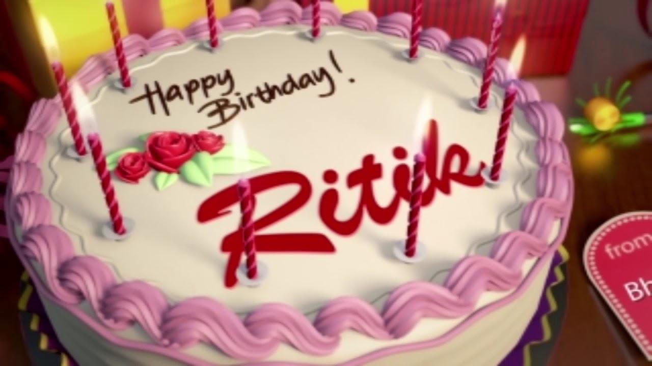 Birthday Cake With Name Tag ~ Happy birthday ritik youtube