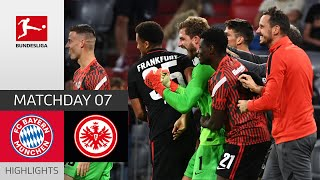 FC Bayern München Eintracht Frankfurt 1 2 Highlights Matchday 7 Bundesliga 2021 22