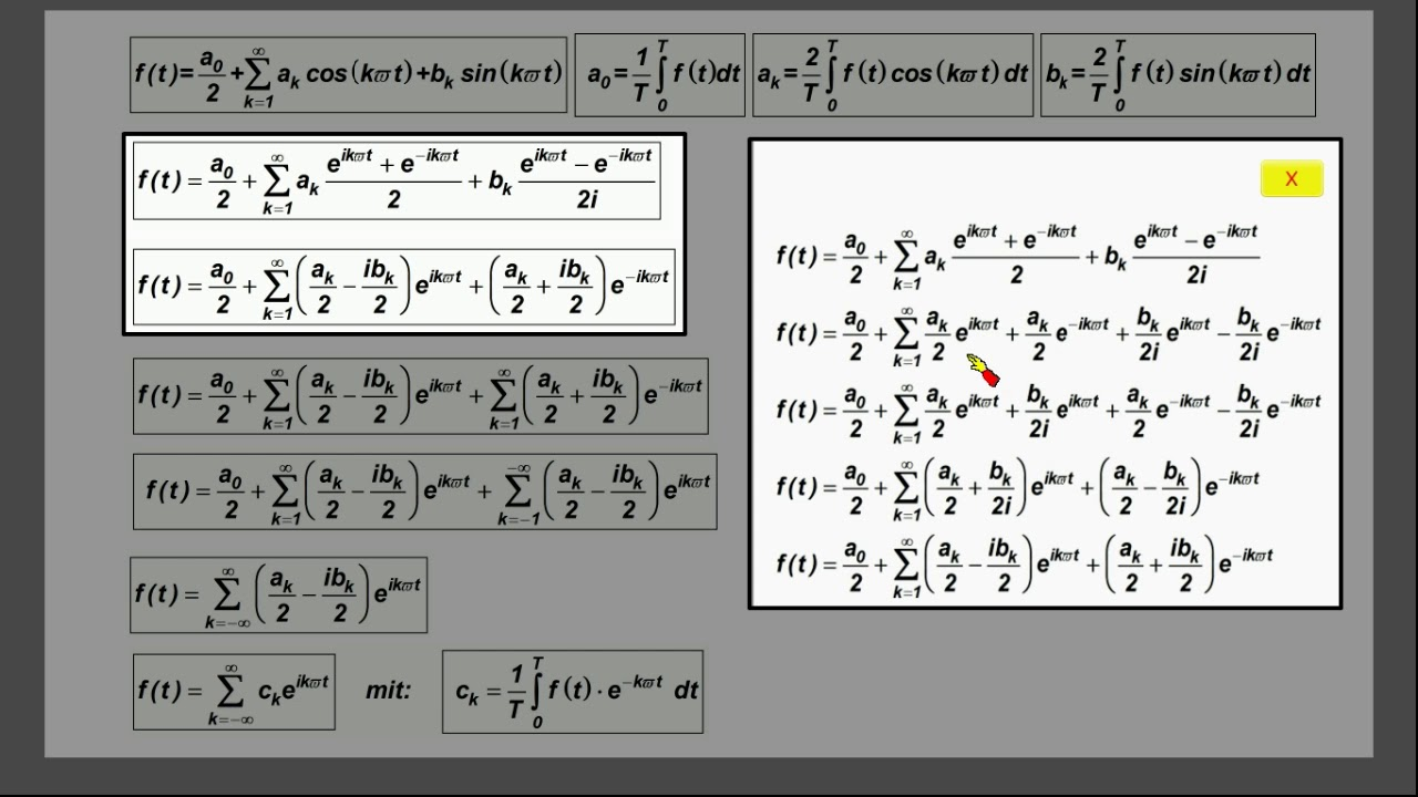 Komplexe Fourierreihen Ausfuhrliche Herleitung Beachte Videobeschreibung Youtube