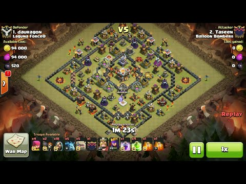 Clash Of Clans | MASS GOLEM - TH11 BOX BASES