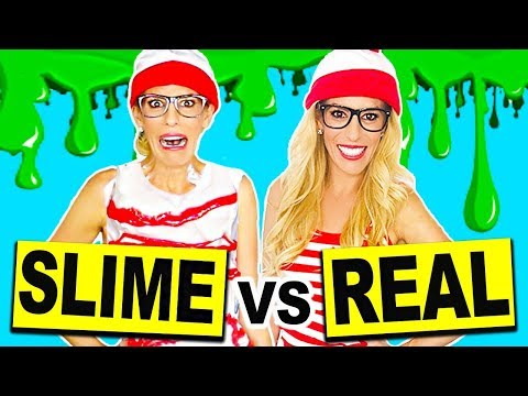 DIY SLIME HALLOWEEN COSTUMES VS. REAL HALLOWEEN COSTUMES!! (NO BORAX)