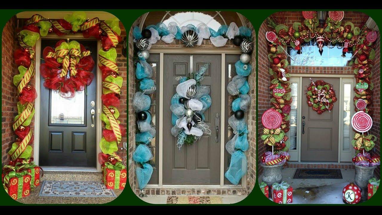 26 decoraciones para adornar tu puerta porche christmas decoraciones navide as ideas navidad - Decoraciones para navidad ...