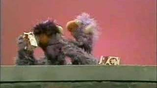 Classic Sesame Street - The 2-headed Monster drinks milk