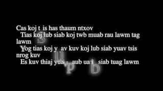 Xab Thoj: hlub tau luag tus Lyrics