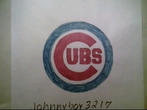 How To Draw The Chicago Cubs Logo Sign Symbol Emblem Easy 2019 Step By Step Tutorial Challenge