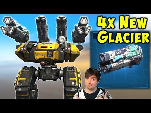 New Heavy GLACIER BEHEMOTH - War Robots Test Server Gameplay WR