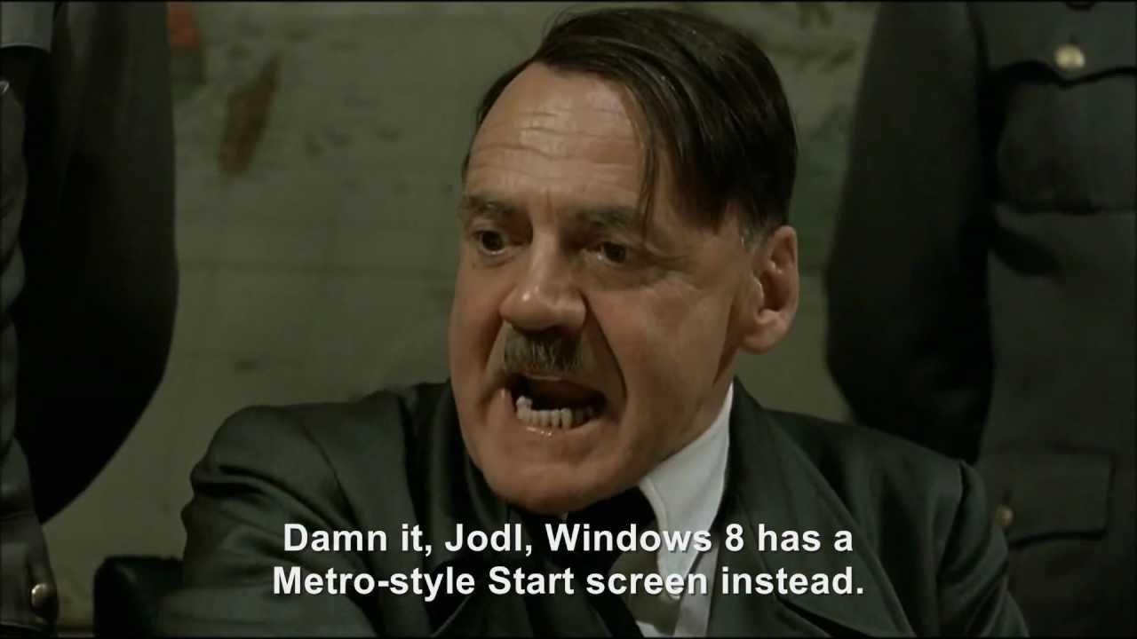 Hitler plans to upgrade to Windows 8