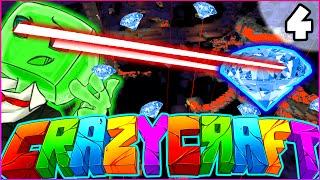 """Minecraft CRAZY CRAFT 3.0 SMP - """"XRAY VISION"""" - Episode 4"""