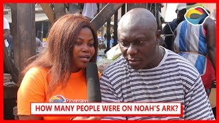 How Many People Entered Noahs Ark Street Quiz  Funny Videos  Funny African Videos