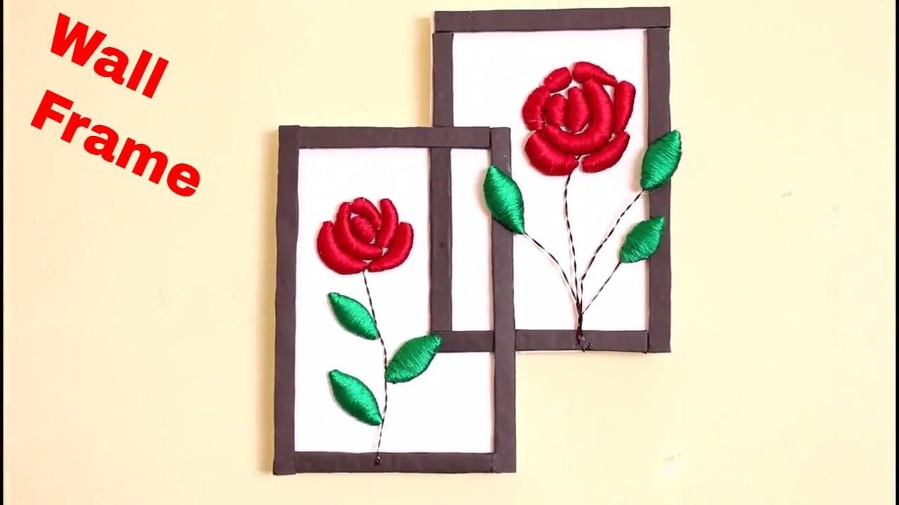 Wall Decoration Frame    DIY Room Decor Idea - YouTube