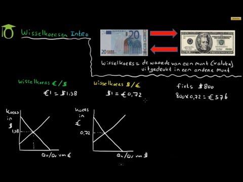 Wisselkoersen introductie - omrekenen - (economie)