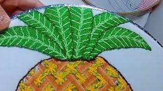 puntada fantasa hojas de la pia   bordadosconisa