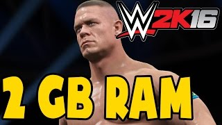 🎮 WWE 2K16 on 2GB RAM [Low End PC] | Gameplay Tested