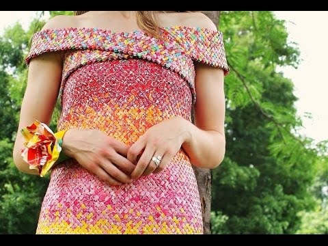 4 Years And 10 000 moreStarburst Candy Wrappers Went Into This Dress
