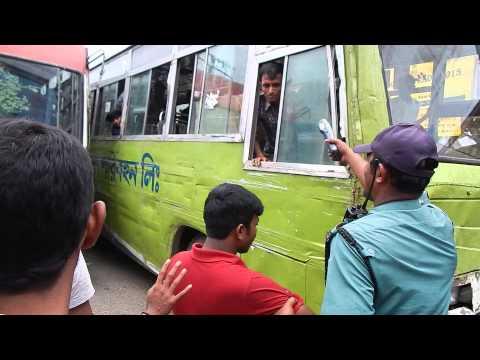 Bus Helper Fighting Dhaka In front Police