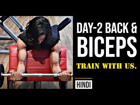 Day2: Back & Biceps | Train with us | Weight Training Program for Beginners | #calisthenicsindia