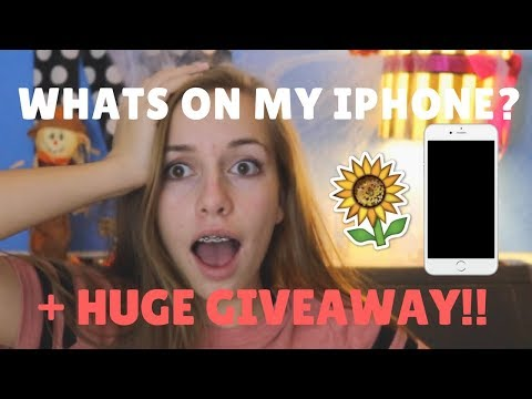 What's on my iPhone 6s!   PLUS HUGE GIVEAWAY!