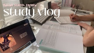 Study Vlog 🤍 Last Weeks Of The Term, Assessments, Online School ✧