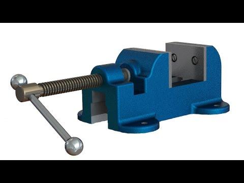 SolidWorks Tutorial #234: Mechanical bench vise